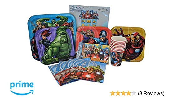 Marvel Avengers Birthday Party Supplies Paper Plates Napkins Cups Invitations And Banner