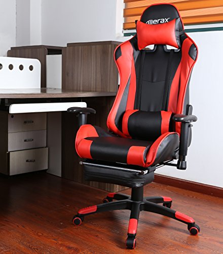 51DNSoPlO2L - Merax High Back Racing Style Gaming Chair Adjustable Swivel Office Chair with Footrest