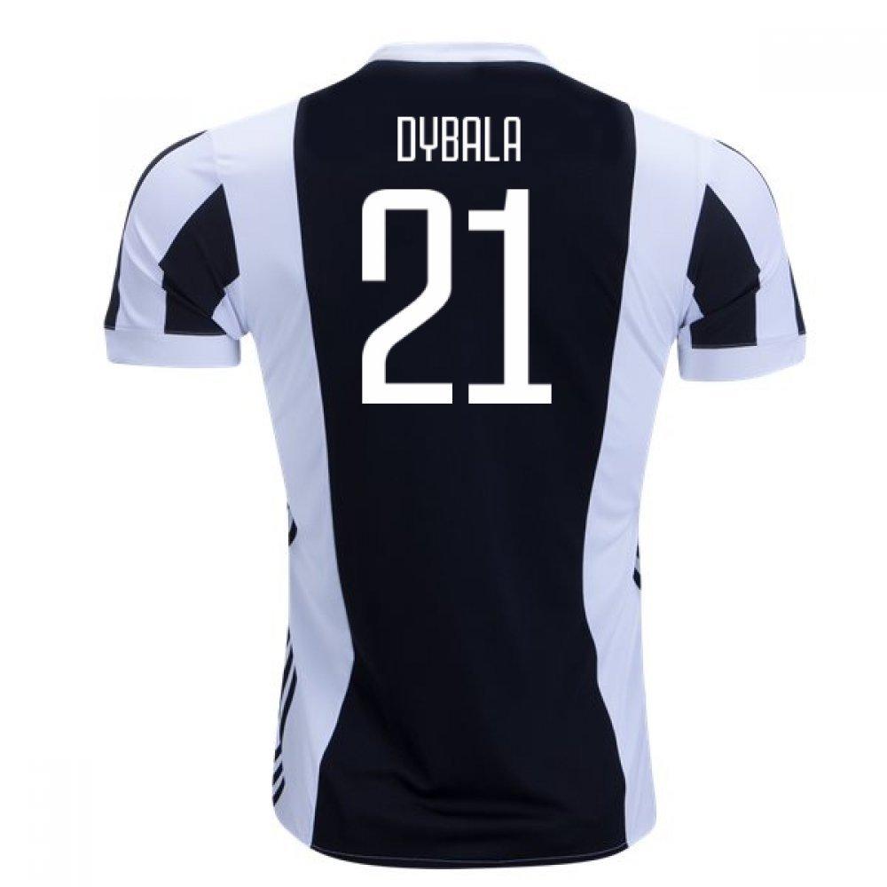 2017-18 Juventus Home Shirt (Dybala 21) Kids B077YMS2C3White Large Boys 30-32\