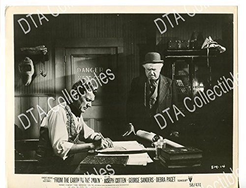 MOVIE PHOTO: FROM THE EARTH TO THE MOON-1958-8 X 10-STILL-FN-SCI-FI-COTTEN- FN