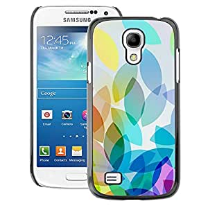 A-type Arte & diseño plástico duro Fundas Cover Cubre Hard Case Cover para Samsung Galaxy S4 Mini i9190 (NOT S4) (Apple Colorful Light Bright White)