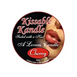 Caressing Candle Kissable Kandle The Lickable Body Candle Cherry 4 Ounce
