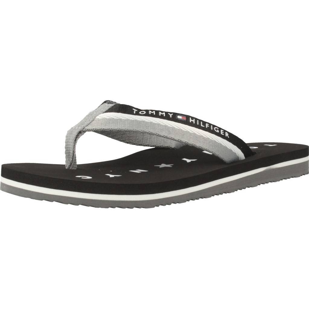 Tommy Hilfiger Damen Tommy Loves NY Beach Sandal Zehentrenner  T-41|Black