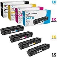 LD Products Compatible Toner Cartridge Replacements for Canon 045H High Yield (1 Black, 1 Cyan, 1 Magenta, 1 Yellow, 4-Pack)