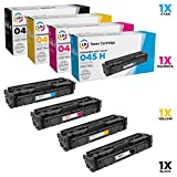 LD Compatible Canon 045H Set of 4 High Yield Toner Cartridges: 1246C001 Black, 1245C001 Cyan, 1244C001 Magenta & 1243C001 Yellow for use in Color ImageCLASS MF634Cdw, MF632Cdw and LBP612cdw