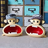 BERTERI 1PC Boutiques Gifts Decoration Mouth Monkey Ash tray Creative Gift Car Ash Box Characteristics of Large Ashtray Resin Ash Holder