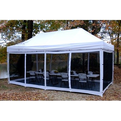 King Canopy EPA1PBS20WH 10-Feet by 20-Feet Bug Screen Room for Explorer Instant Canopy, White and Black, Outdoor Stuffs