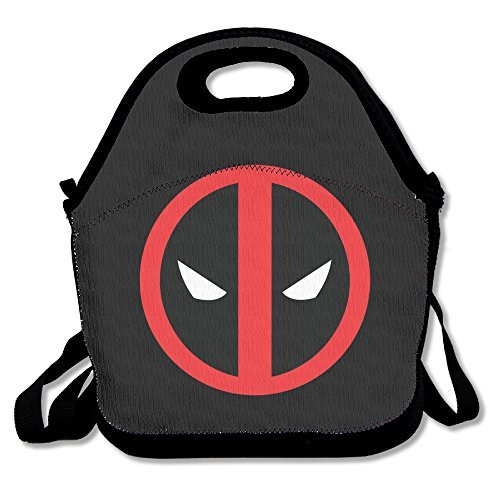 IEUBAG Lunch Bag Deadpool Logo Lunch Tote Lunch Box For Women Men Kids With Adjustable Strap
