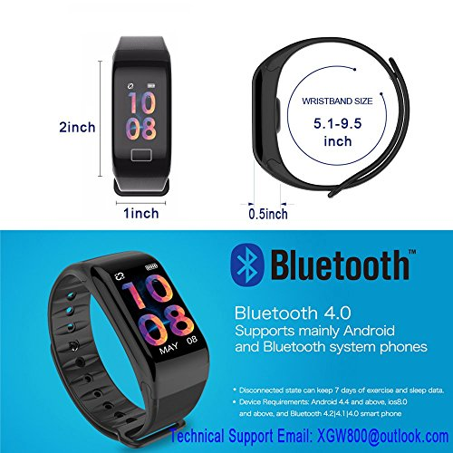 Fitness Tracker, Activity Tracker with HD Colorful Touch Screen,Health Tracker with HR/Blood Pressure/Blood Oxygen/Sleep Monitor,Fitness Watch IP67 Waterproof Smart Band with Calorie Counter Pedometer by TIISON (Image #6)