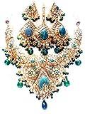 Designer Imitation Polki Necklace Set / AZINPD003-GGR