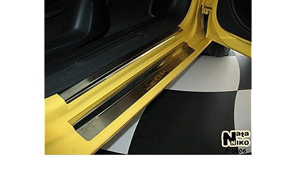 Acero inoxidable protección de listones de umbral Seat Leon II 2005 de: Amazon.es: Coche y moto