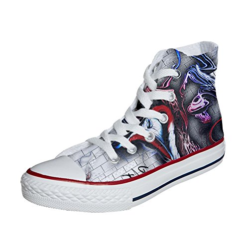 The Customized Chaussures produit Converse Wall artisanal Coutume X1pqnq