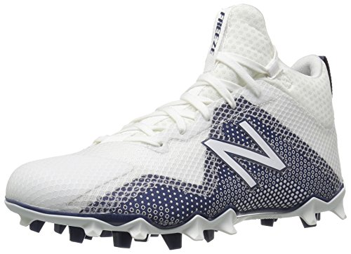 New Balance Men's FREEZV1 Lacrosse Shoe, White/Blue, 10 D US