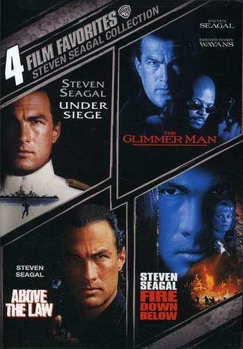 4 Film Favorites: Steven Seagal (Above the Law, Fire Down Below, The Glimmer Man, Under - Glimmer Collection