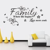 Clearance!Canserin Family Beautiful Flower Wall Stickers