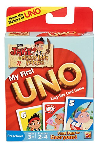 My First UNO Disney's Jake and Never Land Pirates Edition Card Game (Cards Uno Jake)