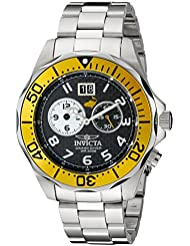 Invicta Mens 14441 Pro Diver Black Carbon Fiber Dial Stainless Steel Watch