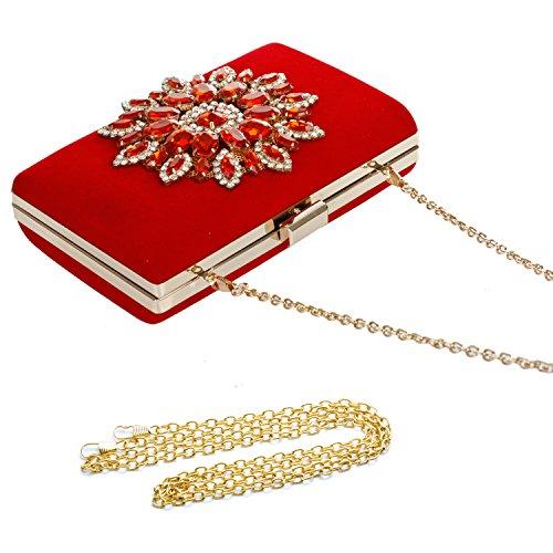 Pochette Audixius Pochette pour Audixius pour Pochette Rouge Rouge femme femme Audixius qWfwUtH