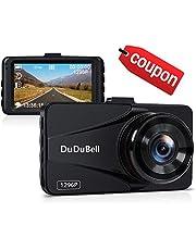 DuDuBell Dash Cam 1296P 2K Car Camera Dashboard Video Recorder Full HD DVR 170° Wide Angle 6G Lens G-sensor Loop Recording Night Vision HDR Motion Detection Parking Monitor
