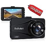 "Dash Cam, DuDuBell 2K Car Camera Recorder 170° Wide Angle DVR 3.0"" LCD Screen, 6G Enhanced Night Vision Dashboard Recorder with HDR G-Sensor Loop Recording Parking Monitor, Alloy Shell"