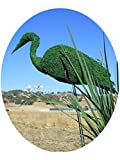 Stork 36 inches high w/ Moss Topiary Frame , Handmade Animal Decoration