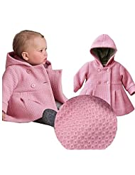 EGELEXY Baby Girl's Hooded Wool Cotton Trench Coat Outwear
