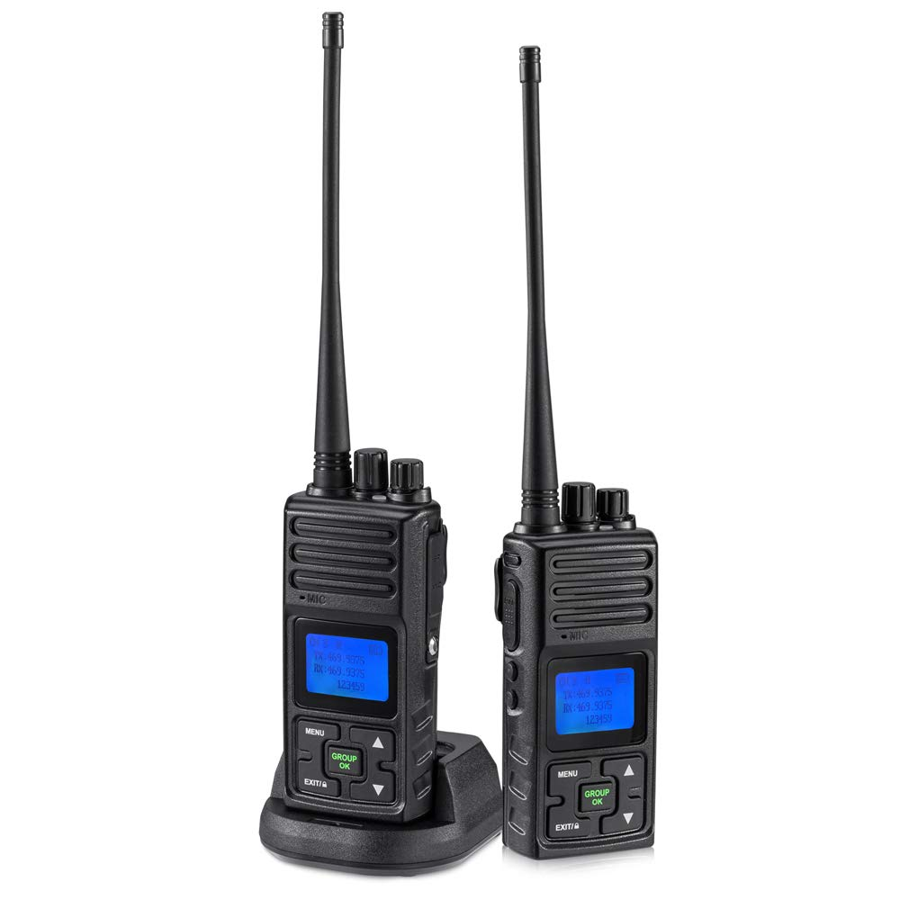 2 Way Radio 5 Watt Long Range, SAMCOM 20 Channels Walkie Talkie,Rechargeable Hand-held UHF Business Radio for Outdoor Hiking Hunting Travel,2 Packs by SAMCOM