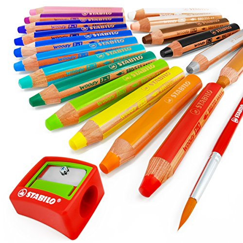 Lapices de colores STABILO (18 unidades) sacapunta