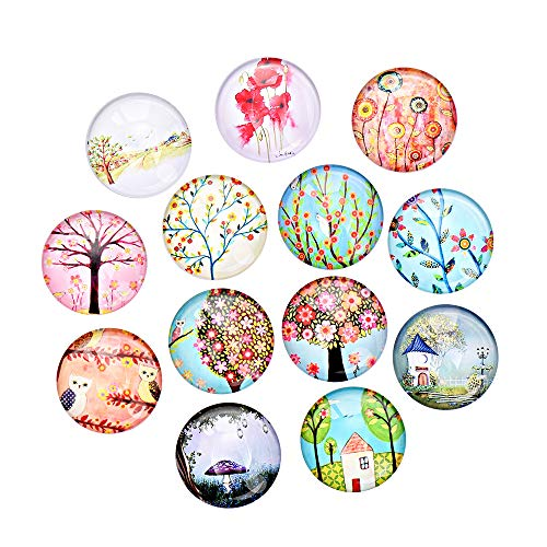 15 Pcs Cute Fairytale Style Strong Refrigerator Magnets - Great for Beautiful Decoration and Fun Gift Magnets - Whiteboard, Kitchen Fridge Use ()