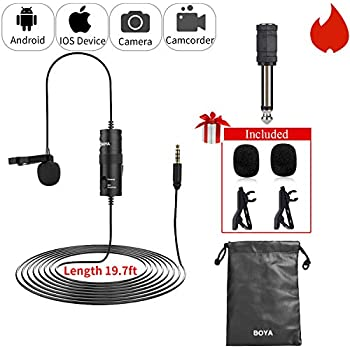 Amazon Com Boya By M1 Lavalier Microphone For Iphone With Free