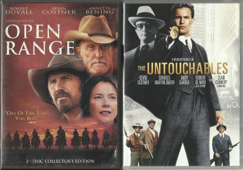 The Untouchables, For Love of the Game, and Open Range Kevin Costner DVD 3-Pack Combo!