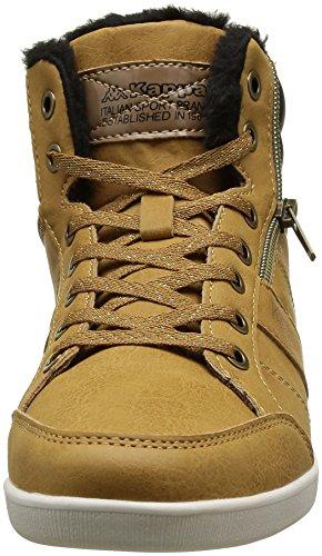 Donna Sneaker Kappa Basse Linwood Gold old blck 907 Tan Marrone AOxZxq6tw