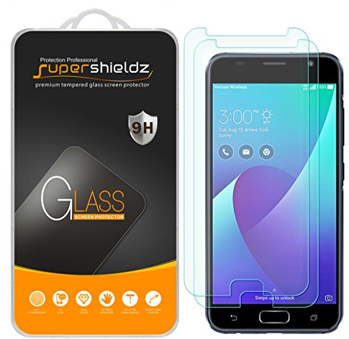 [2-Pack] Supershieldz for Asus ZenFone V (Verizon) Tempered Glass Screen Protector, Anti-Scratch, Bubble Free, Lifetime Replacement Warranty
