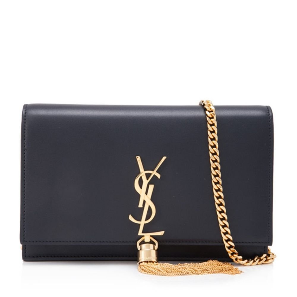 gold Lucy YSL Women's Classic Plain gold Chain Shoulder Bag (Made in France)