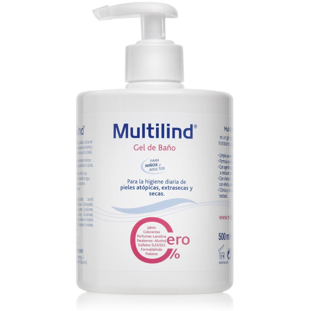 Multilind - Gel de Baño, Hipoalergénico, Hidratante, Higiene Diaria - [ 500ml ]