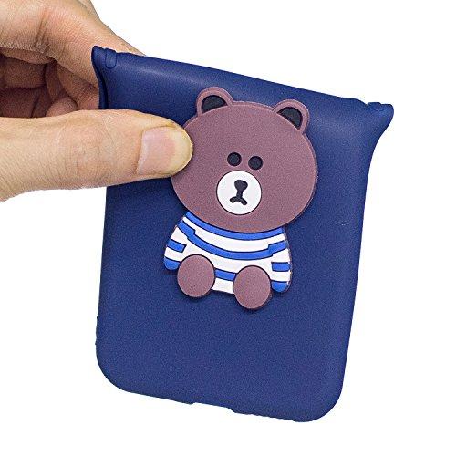 Funda para iPhone 5 / 5S / SE Mosoris Nuevo Navidad 3D patrón de dibujos animados Cubierta Ultra Thin TPU Caso de protección Caja mate de satén de silicona Carcasa Anti-deslizante Gel flexible de cauc Bear
