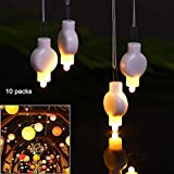 10 Packs Mini Hanging Lantern Lights LED Warm White for Paper Lanterns Balloons Waterproof Battery Operated for Easter Party Wedding Home Decora