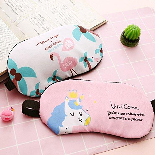 Fashion Unicorn Flamingos 4Pcs Sleep Mask Cover Lightweight Blindfold Soft Eye Mask for Men Women Kids by Yosbabe (Image #3)
