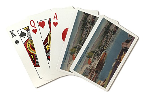 - Lake Tahoe, CA - Boat Harbor at Bijou Wooden Boats (Playing Card Deck - 52 Card Poker Size with Jokers)