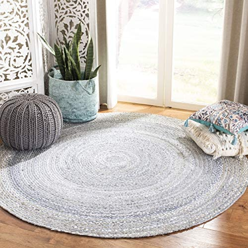 Safavieh Braided Collection BRD452F Hand-Woven Cotton Area Rug