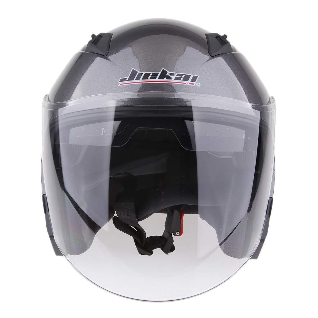 Gl/änzendes schwarzes XL H HILABEE Jet-Helm Motorrad-Helm Roller-Helm Motorradhelm Rollerhelm Jethelm Farrad Helm Halbschale f/ür Damen Herren