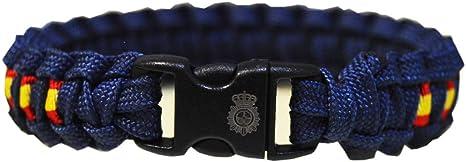 PC Pulsera Paracord Personalizada Policía Nacional. Escudo de la Policía Nacional Grabado en el Cierre. Medida: 21.5 x 1.5 cm (Aprox): Amazon.es: Deportes y aire libre