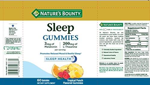 ผลการค้นหารูปภาพสำหรับ nature's bounty sleep gummies