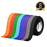 ARTISTORE Building Blocks Tape 8 Colors Roll Toy Blocks Tape Compatible Lego 3Feet/0.92meter Loops Building Block Tape Roll Self-Adhesive