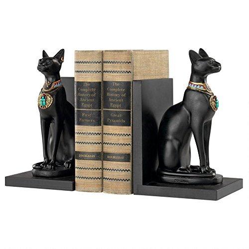 Design Toscano Bastet Cat Goddess of Ancient Egypt Sculptural Bookends