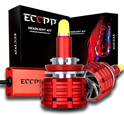 Led Headlight Bulbs,ECCPP H11 H8 H9 LED Headlight Kit w/ Clear Arc-Beam Bulbs - 120w 12,000Lm 6K Cool White CREE- Super Bright 360 Degree Auto Headlamp All-in-One Conversion Kit -3 Year Warranty by ECCPP