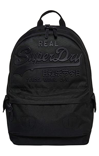 Superdry - Premium Goods Backpack, Hombre, Negro (Nero), 15x45x34 cm (