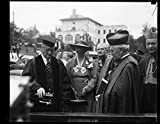 1933 Photo Franklin D. and Eleanor Roosevelt at Catholic University, Washington, D.C. Location: Washington D.C.