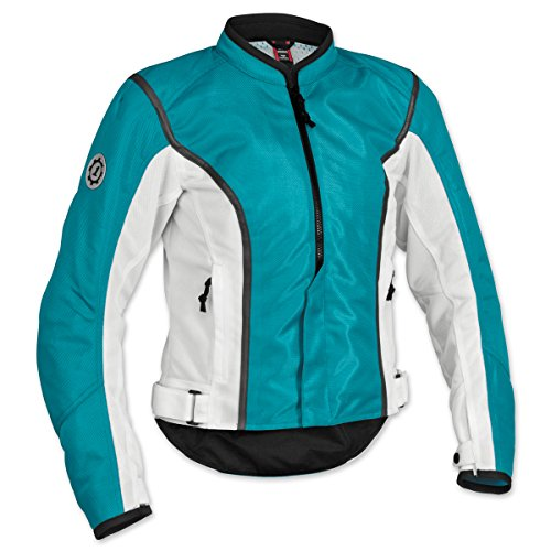 Firstgear Women's Contour Mesh Blue/White Jacket, (Firstgear Womens Contour Mesh Jacket)