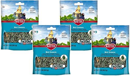 (4 Pack) Kaytee Forti Diet Prohealth Bird Greens Chia Sweet Potato 1 Ounce each